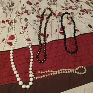 Bundle of Beaded Necklaces